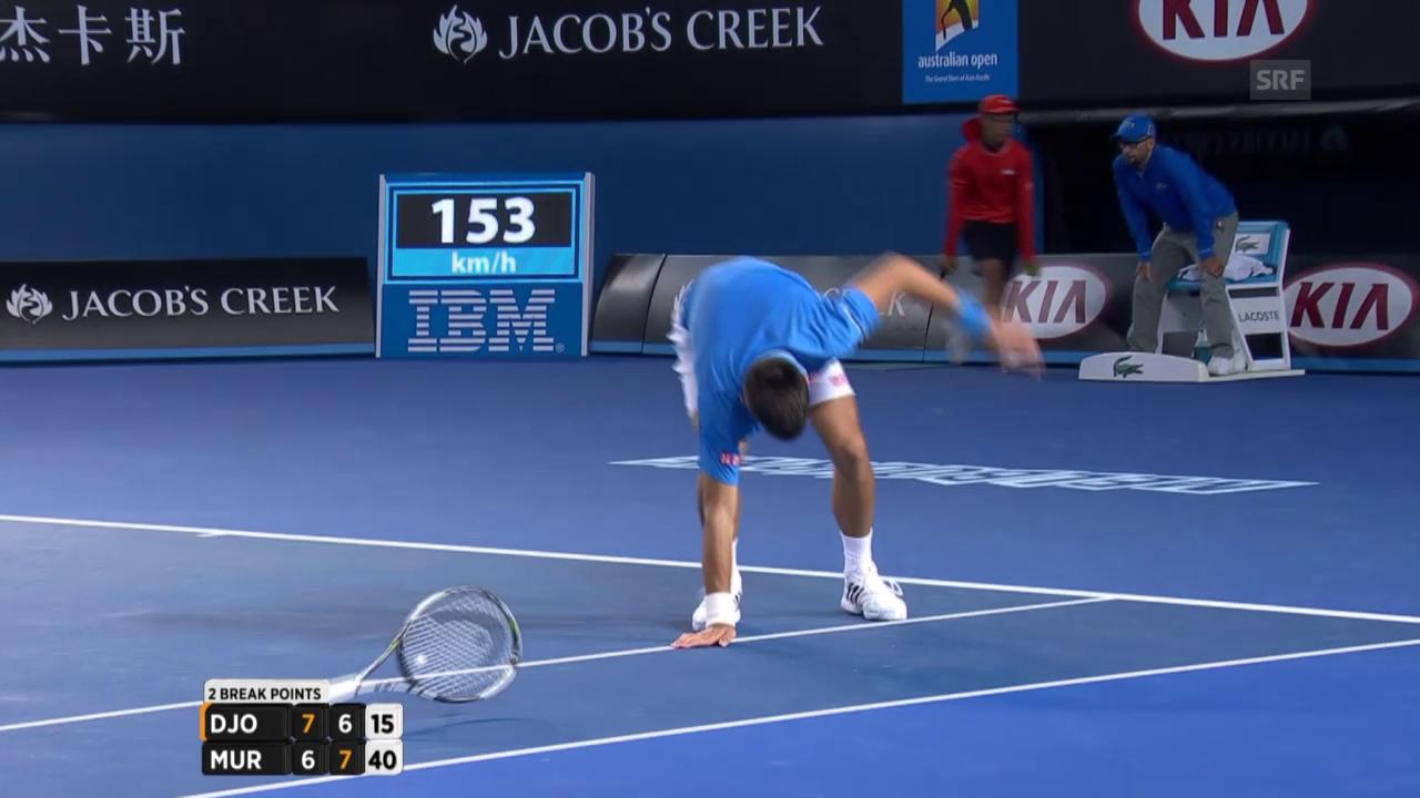 Tennis: Beschwerden bei Novak Djokovic