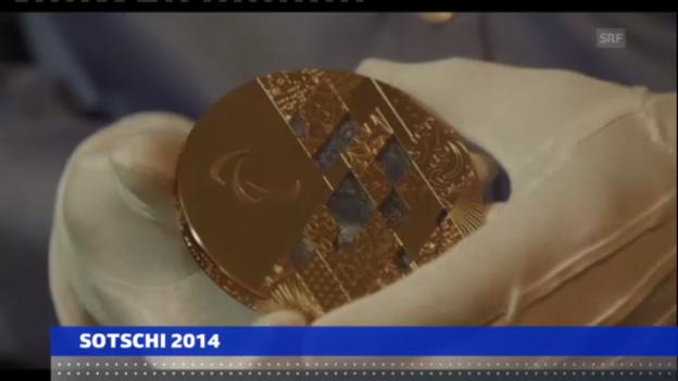 Video «Medaillen für Sotschi präsentiert («sportaktuell»)» abspielen