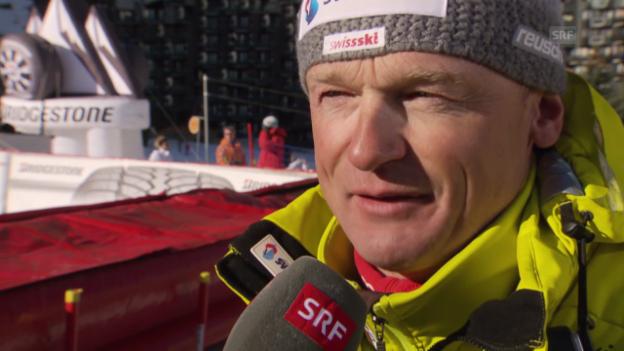 Video «Ski Alpin: Abfahrt Val d'Isère, Interview mit Hans Flatscher (21.12.2013)» abspielen