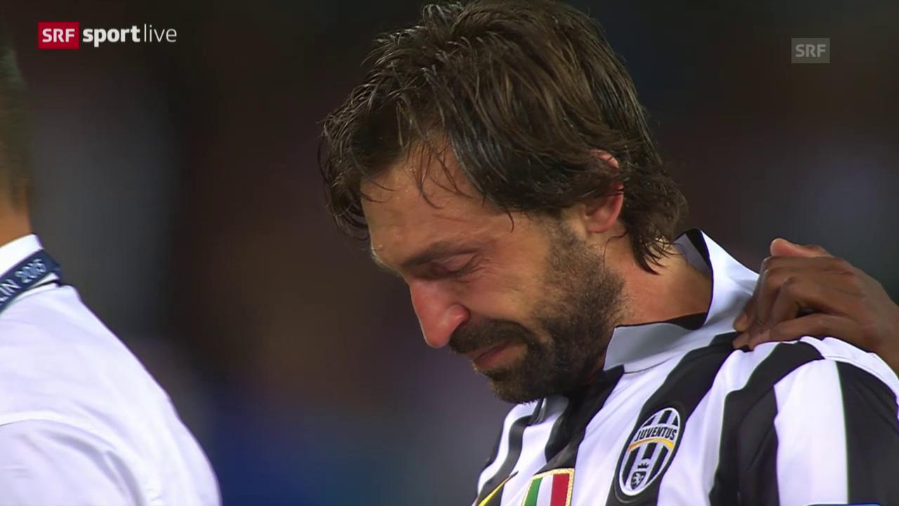 Fussball: CL-Final Juventus - Barcelona, Pirlos Tränen