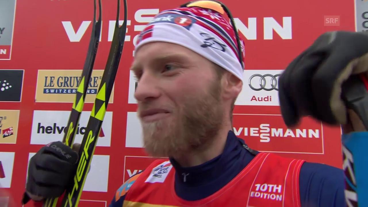 Martin Johnsrud Sundby zu seinem Sieg (englisch)