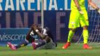 Video «Fussball: Zusammenfassung Luzern - GC» abspielen