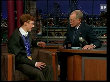 Video «Simon Ammann bei David Letterman» abspielen