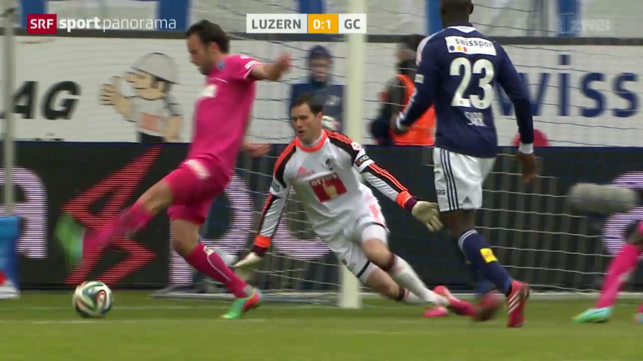 Fussball: Luzern - GC