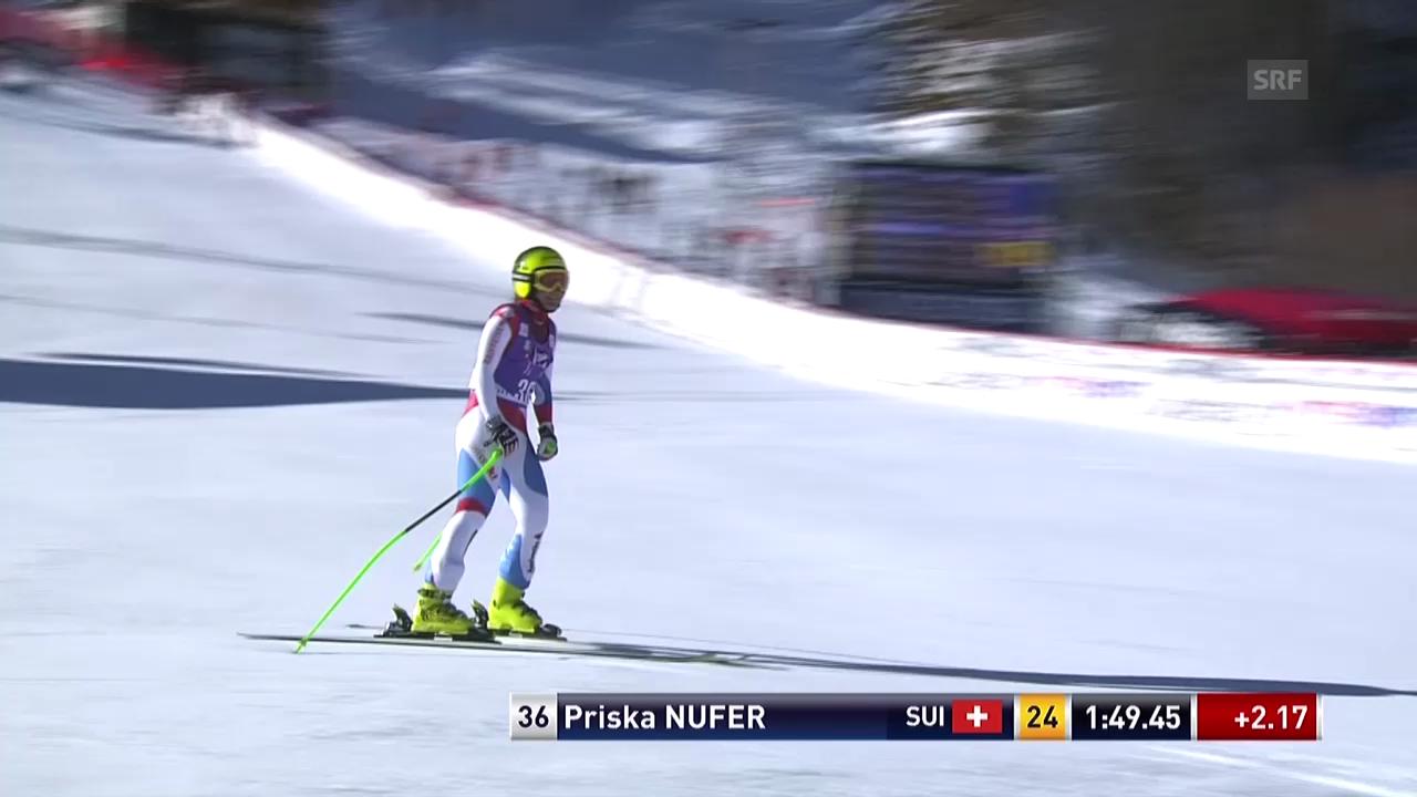 Ski: Abfahrt Frauen Val d'Isère, Fahrt von Priska Nufer