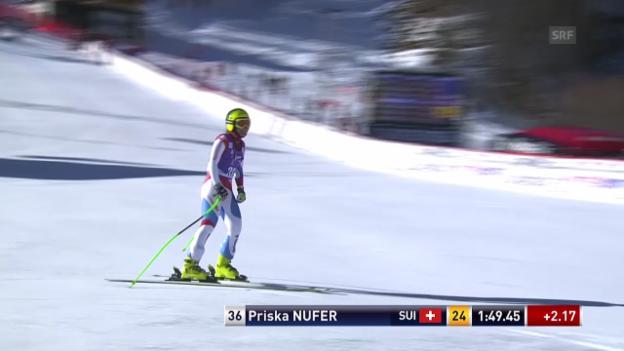 Video «Ski: Abfahrt Frauen Val d'Isère, Fahrt von Priska Nufer» abspielen
