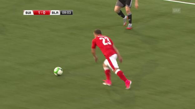 Video «Shaqiri zirkelt den Ball herrlich in den Winkel» abspielen