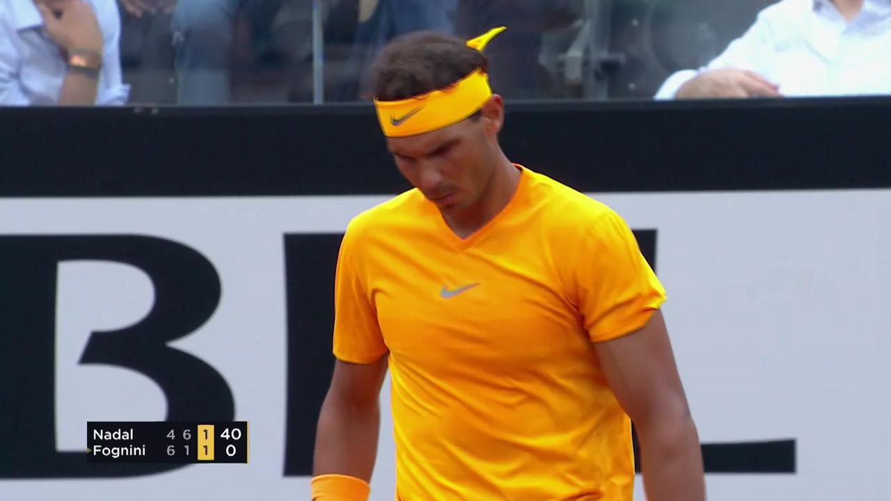 Nadal setzt sich gegen Fognini durch