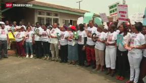 Video «Ein Lebenszeichen der nigerianischen Schülerinnen» abspielen