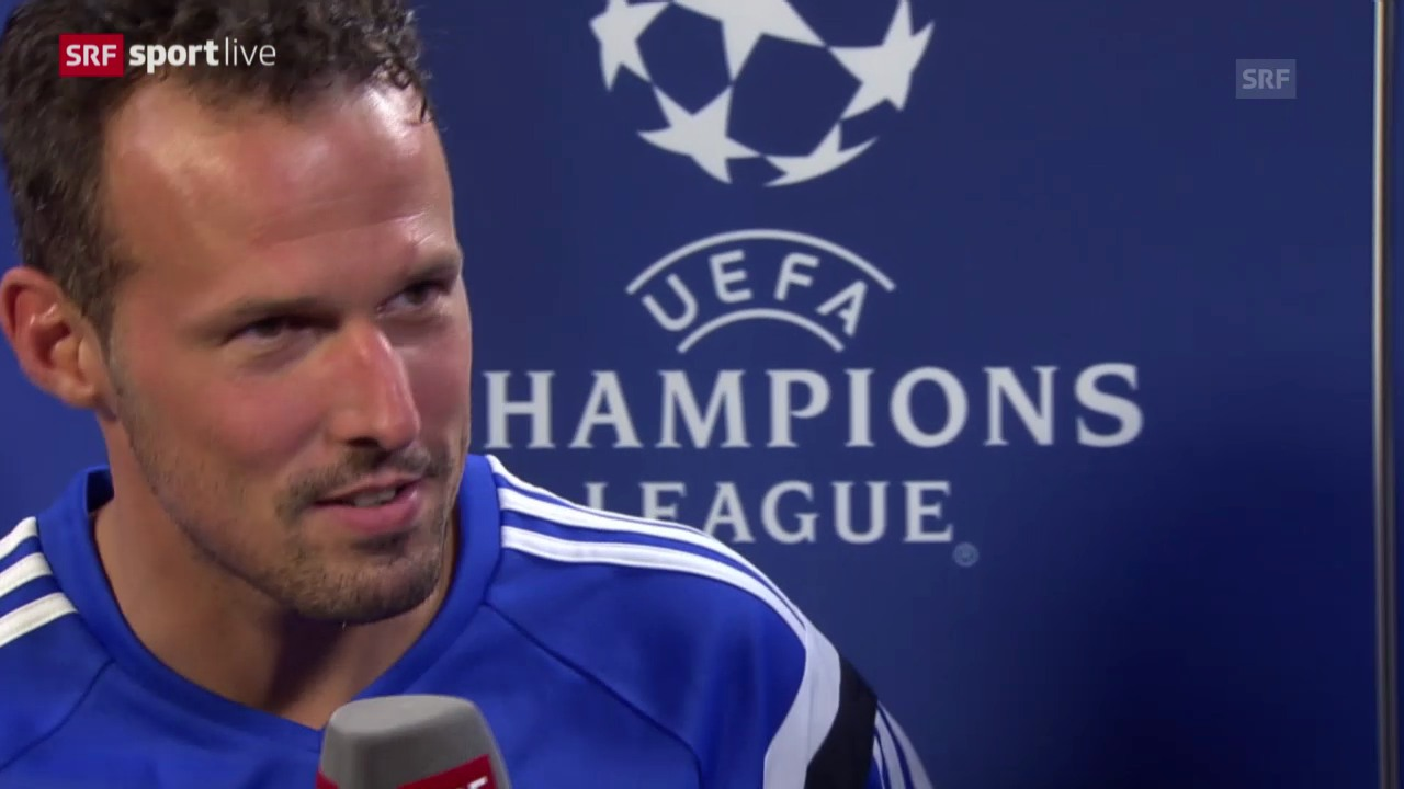 Fussball: Champions League, Real Madrid - FC Basel, Interview mit Marco Streller