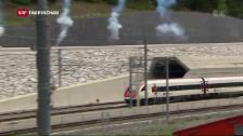 Video «Gotthard-Tunnel: «Bahn frei»» abspielen