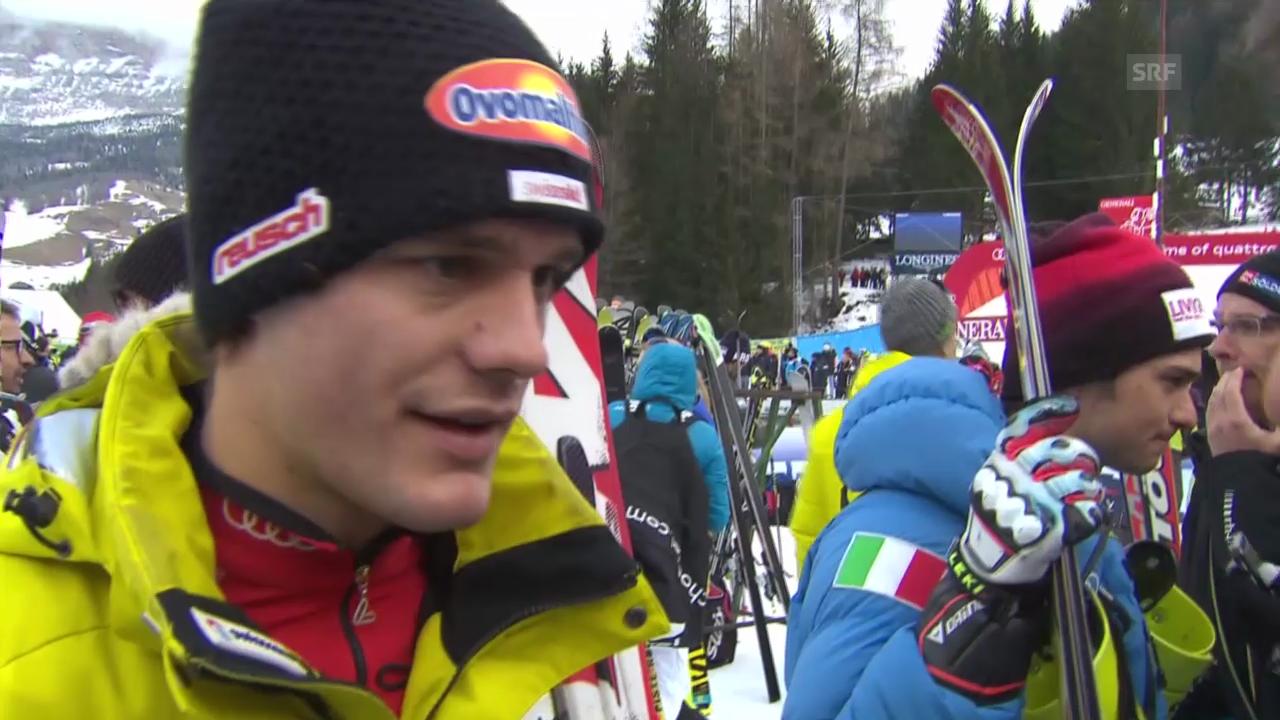 Ski Alpin: Abfahrt Männer in Alta Badia, Interview mit Tumler («sportlive», 22.12.2013)