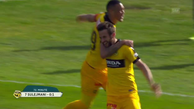 Video «YB festigt mit Sieg in Lugano Platz 2» abspielen