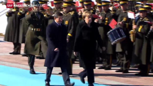 Video «Viel Gesprächsstoff, wenig Schnittmenge: Merkel in der Türkei» abspielen