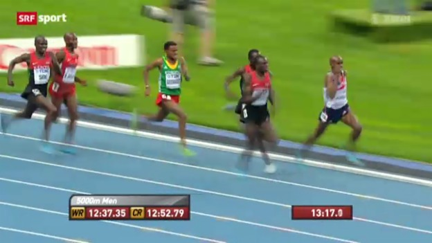 Video «Leichtathletik: 5000 m Männer» abspielen