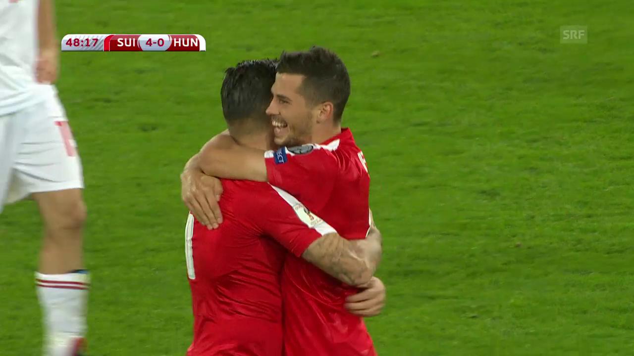 Die Live-Highlights bei Schweiz gegen Ungarn