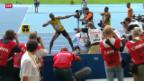 Video «Dritte Goldmedaille für Bolt» abspielen