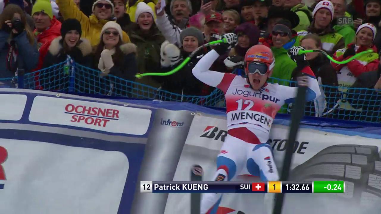 Rückblick auf Patrick Küngs Siegesfahrt am Lauberhorn 2014