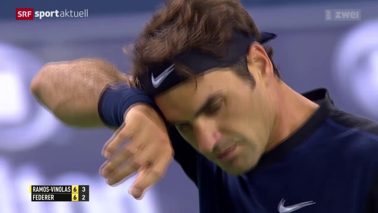 Tennis: ATP-1000-Turnier in Schanghai, Federer - Ramos-Vinalos