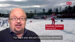 Laschar ir video «Dario Cologna, campiun mundial - nus eran là, vus eras là»
