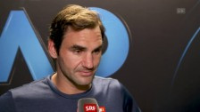 Link öffnet eine Lightbox. Video Federer: «Ich hätte wohl etwas schnellere Bedingungen gebraucht» abspielen