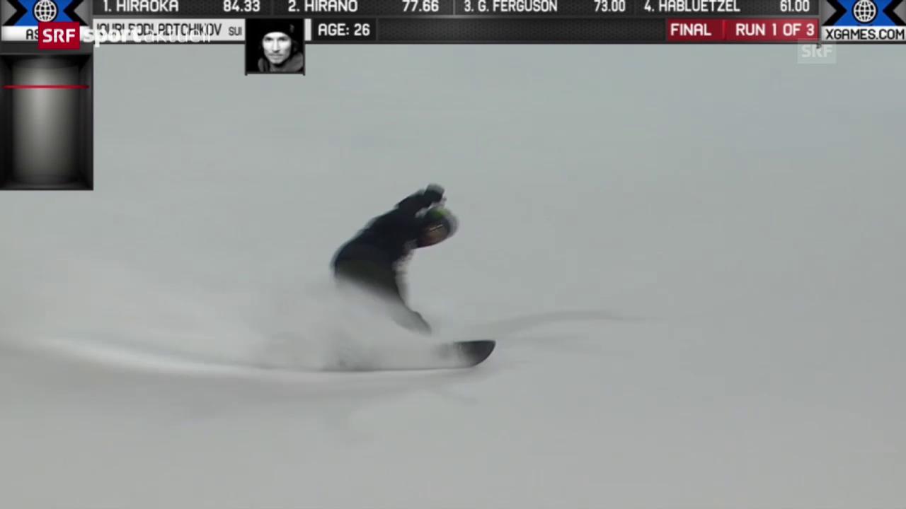 Snowboard: X-Games, Zusammenfassung Snowboard Halfpipe Männer («sportaktuell»)
