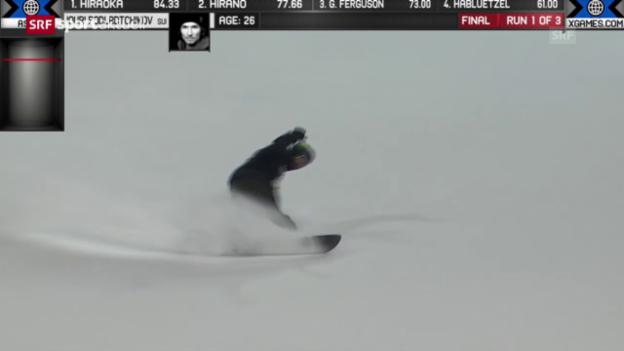 Video «Snowboard: X-Games, Zusammenfassung Snowboard Halfpipe Männer («sportaktuell»)» abspielen