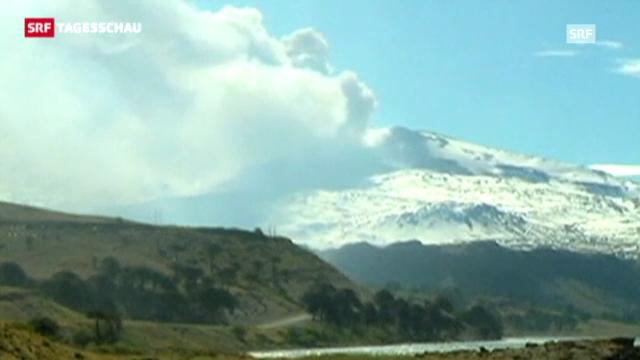 Chilenischer Vulkan Copahue ausgebrochen (Tagesschau, 24.12.2012)