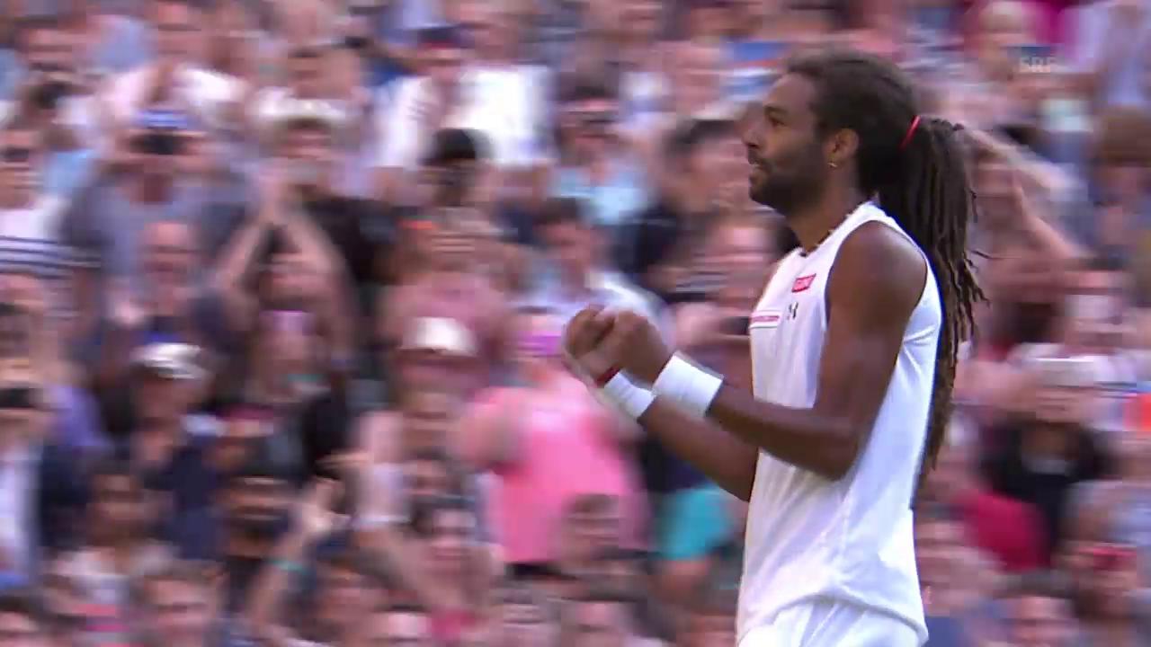 Tennis: Wimbledon, Nadal - Brown, Matchball - Brown