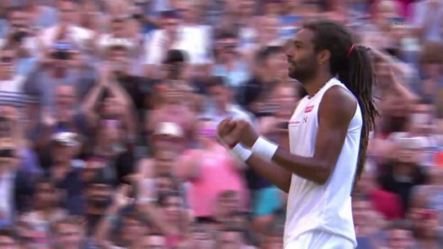 Video «Tennis: Wimbledon, Nadal - Brown, Matchball - Brown» abspielen