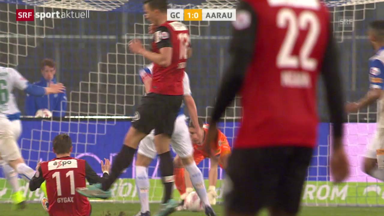 Fussball: Super League, GC - Aarau