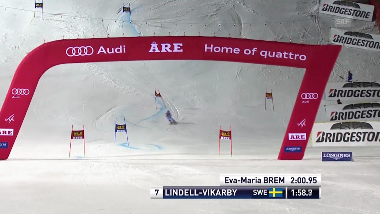 Ski Alpin: Riesenslalom Frauen in Are, 2. Lauf Lindell-Vikarby («sportlive», 7.3.2014)
