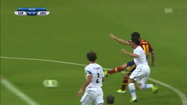 Video «Fussball: Highlights Spanien - Uruguay («sportlive»)» abspielen