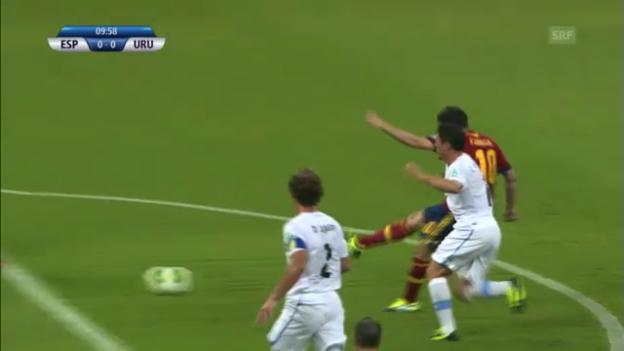 Video «Fussball: Highlights Spanien - Uruguay («sportlive»)» abspielen