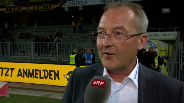 Video «Fussball: Super League, YB - Basel, Interview Bickel» abspielen
