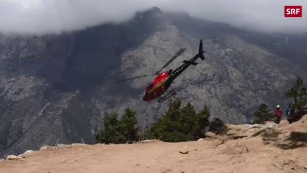 Video «Ueli Steck in den Bergen beigesetzt» abspielen
