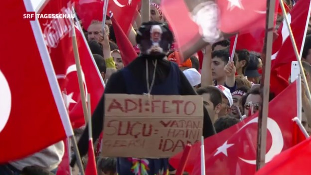 Video «Grossdemonstration in Istanbul» abspielen
