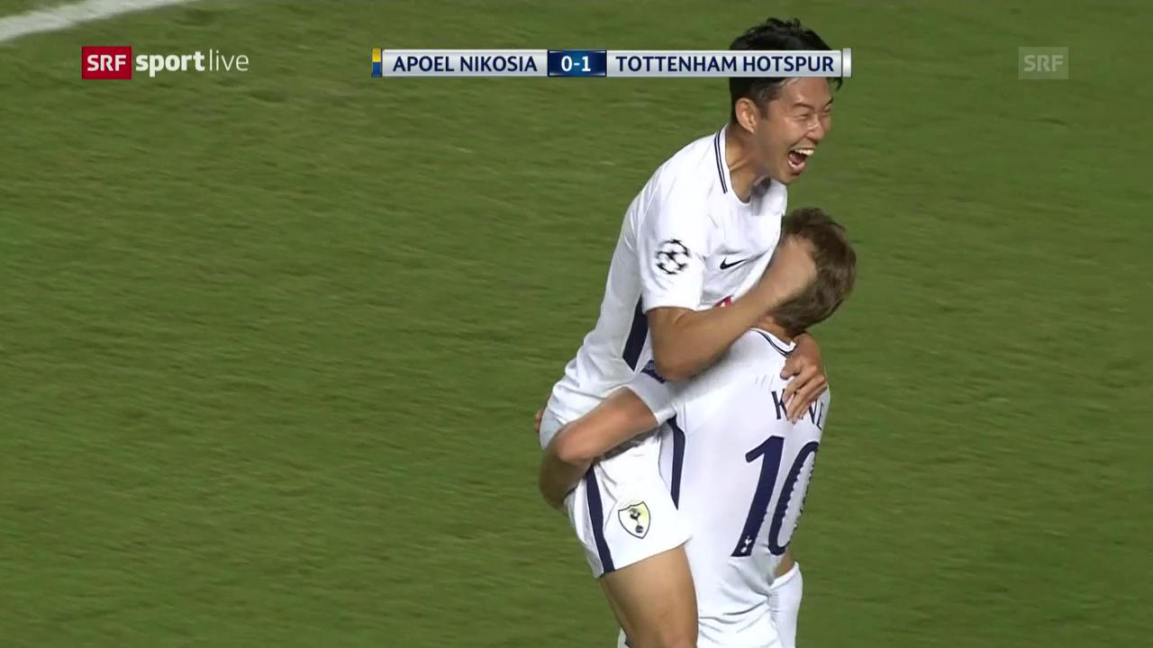 Eine klare Sache für Tottenham auf Zypern