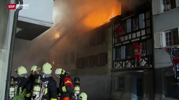 Video «Grossbrand in Steckborn» abspielen