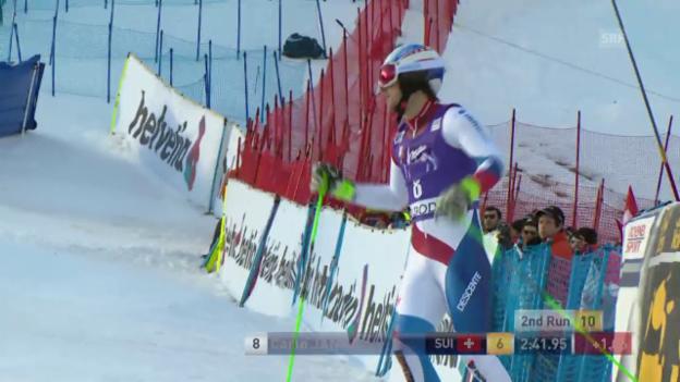 Video «Ski: RS Adelboden, 2. Lauf Janka» abspielen