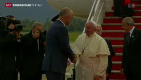 Video «Papst auf Albanien-Reise» abspielen