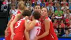 Video «Volleyball: EM in der Schweiz, Schweiz - Italien» abspielen