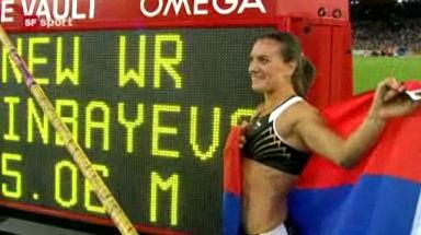 Video «Isinbajewa springt Weltrekord!» abspielen