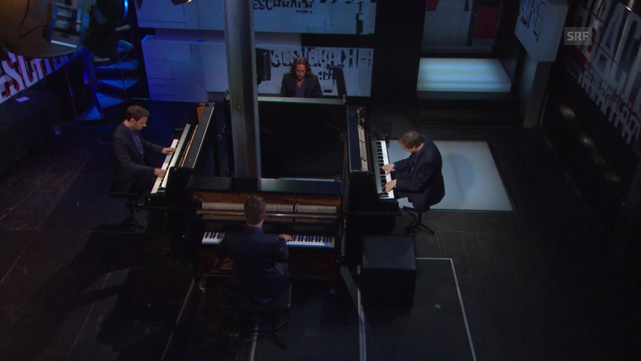 Das Gershwin Piano Quartet eröffnet die «Aeschbacher»-Sendung mit «Rhapsody in Blue»