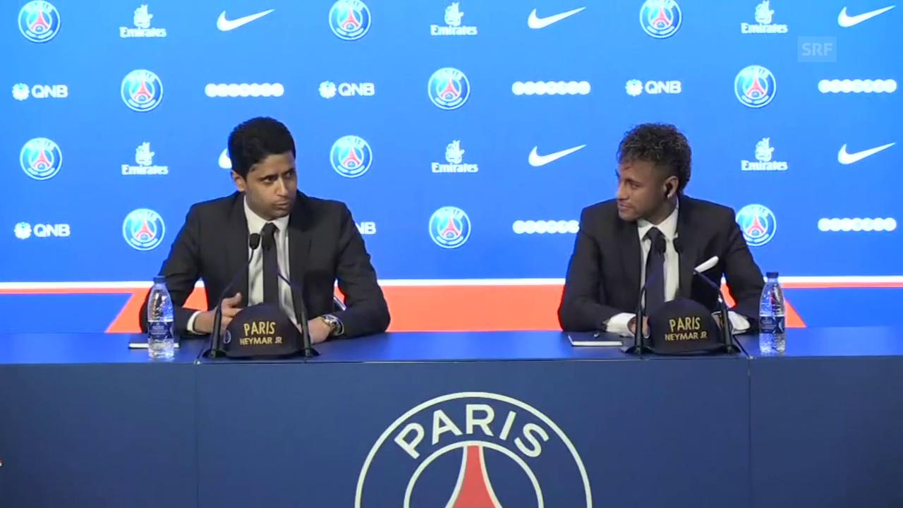 So wird Neymar in Paris begrüsst