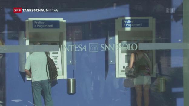 Video «Italien zerschlägt zwei Banken» abspielen