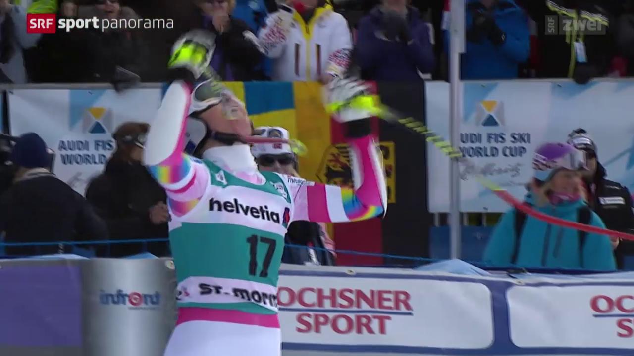 Ski alpin: Weltcup der Frauen Super-G in St. Moritz