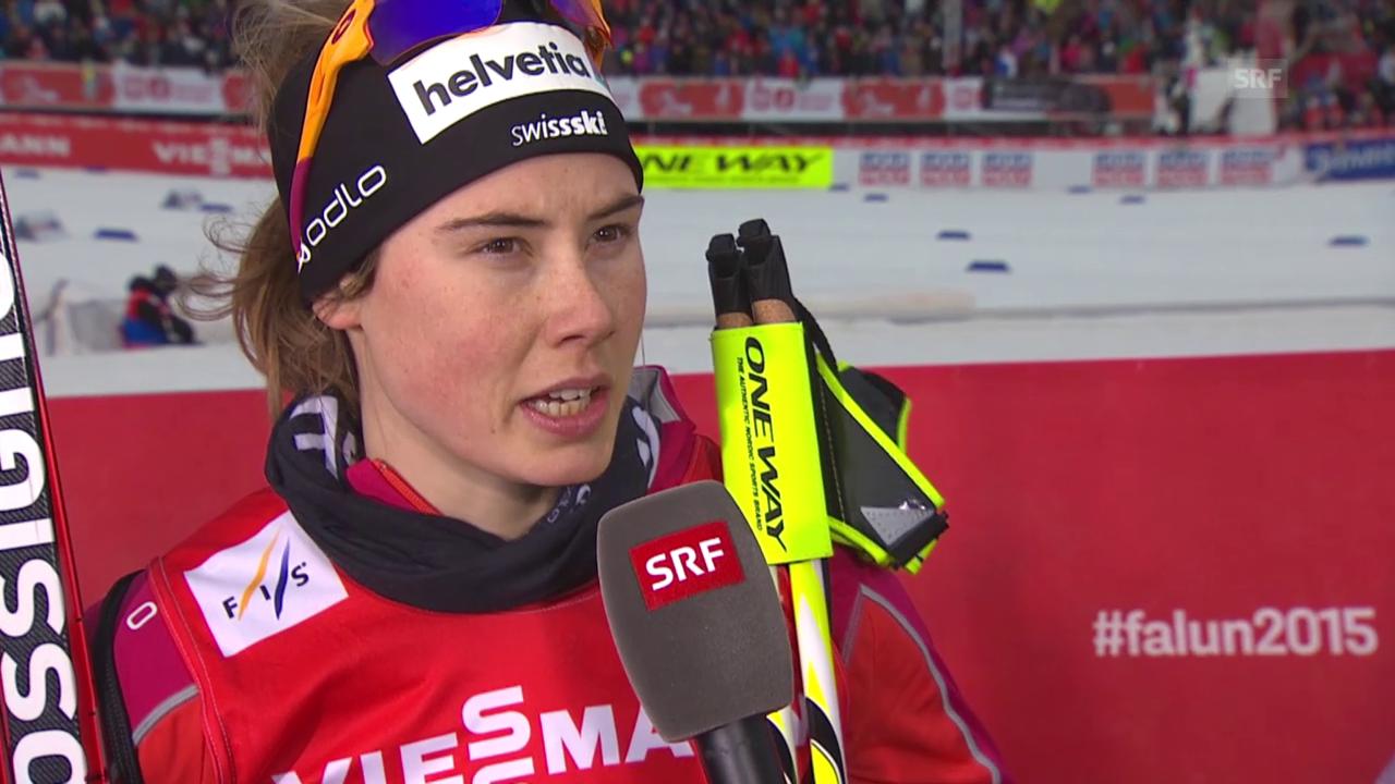 Ski nordisch: WM Falun, Sprint, Interview Laurien van der Graaff