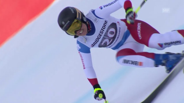 Video «Fabienne Suter übernimmt die Führung in Garmisch-Partenkirchen» abspielen