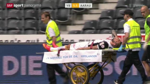 Video «Fussball: Verletzung Edgars Gauracs» abspielen